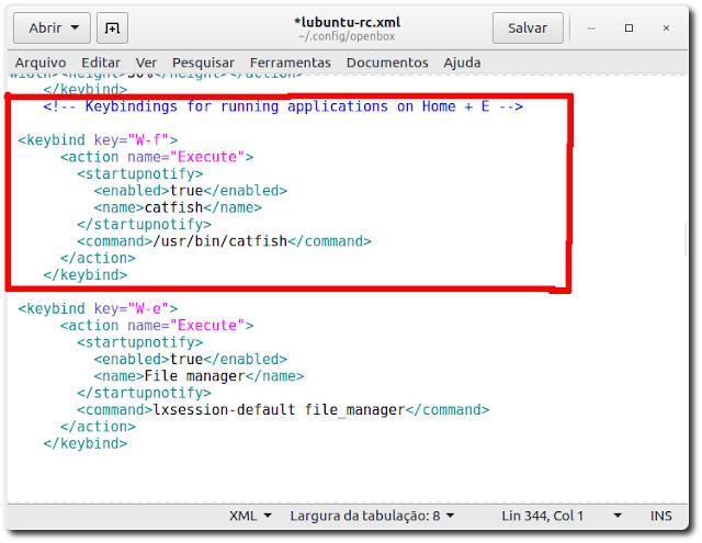 Como adicionar atalhos de teclado no Lubuntu
