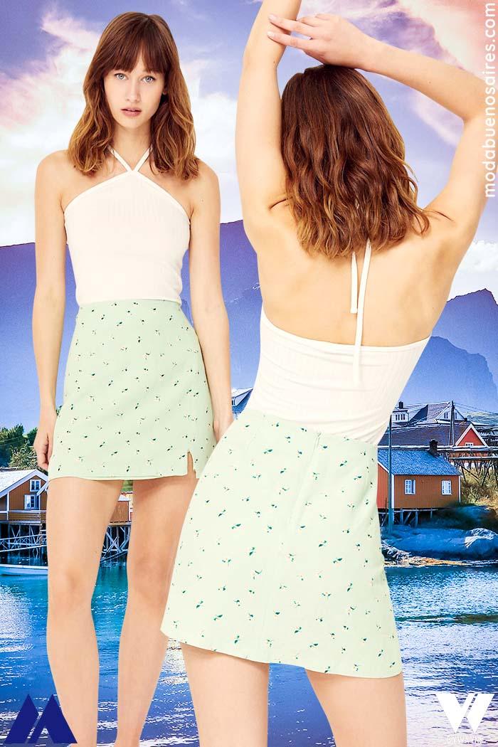 tops y minifaldas verano 2022