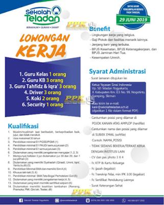 Dibutuhkan 13 Guru dan Staff di Sekolah Teladan Yogyakarta