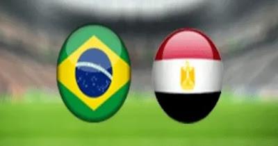مباراة مصر والبرازيل اليوم