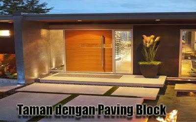 Taman dengan Paving Block