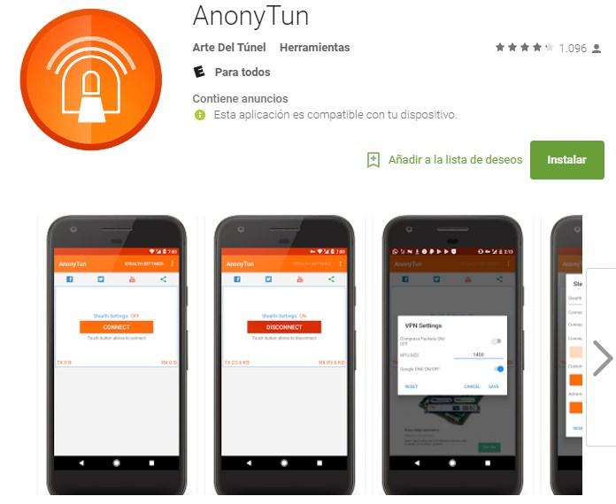 anonytun para pc descargar gratis