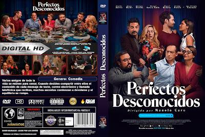 CARATULA PERFECTOS DESCONOCIDOS - 2018 [COVER DVD]