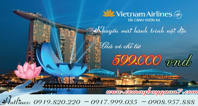 Khuyến mãi vé máy bay nội địa Vietnam Airlines