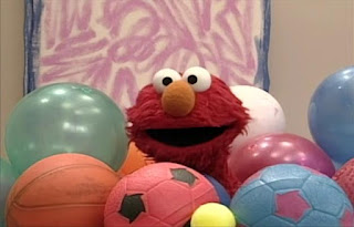 Elmo opens the door a cascade of balls topples over Elmo. Guess what Elmo's thinking about today. Sesame Street Elmo's World Balls