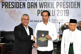Sambutan  Bapak Jokowi pada Acara Rapat Pleno Terbuka KPU Penetapan Pasangan Calon  Terpilih Presiden dan Wakil Presiden Pemilu 2019