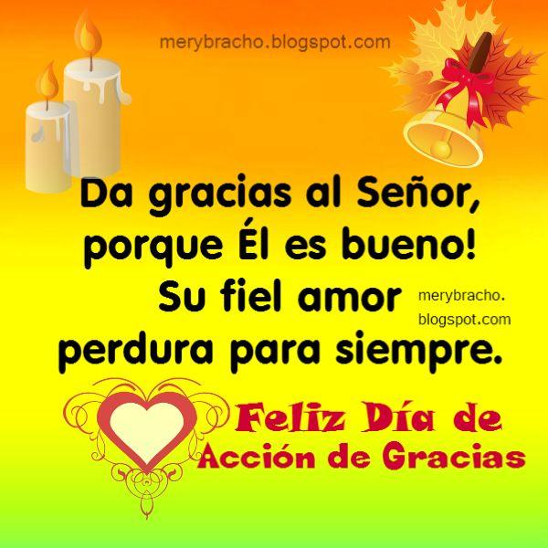 gracias a Dios thanksgiving feliz dia