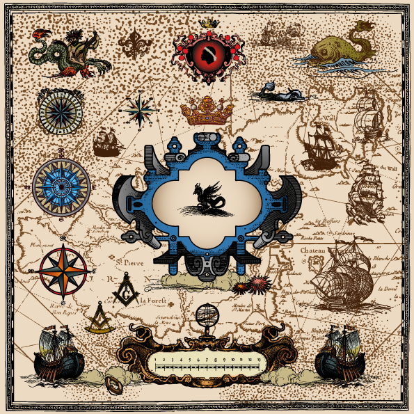 Ilustraciones marinas de la era de los descubrimientos