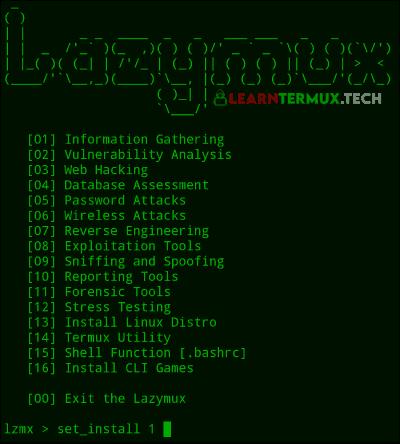 Lazymux - Termux Best Tools Installer