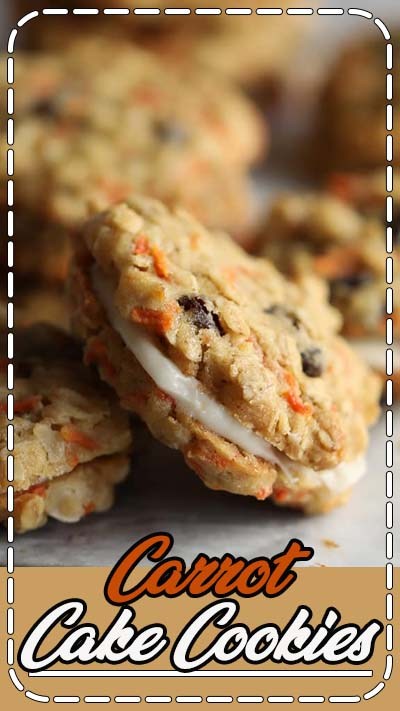 These Carrot Cake Cookies have all the flavors of your favorite carrot cake rolled into cookies. Soft, chewy, and sandwiched with a wonderful cream cheese frosting!