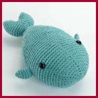 Ballena azul amigurumi