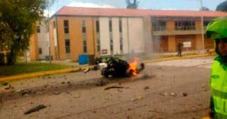 Carro bomba en la Escuela General Santander