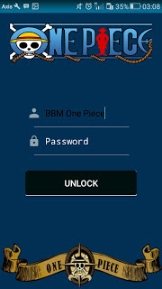 BBM MOD One Piece (BBM Kimochi Versi One Piece) Base 3.0.1.25 APK Terbaru Plus New World Full Features