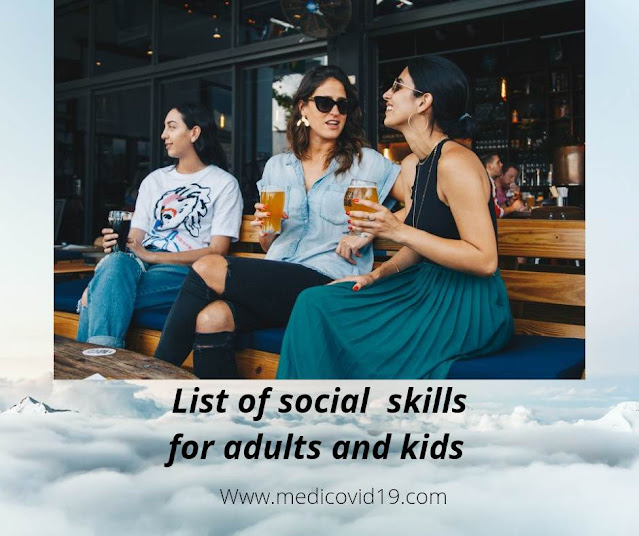 List of social skills for adults