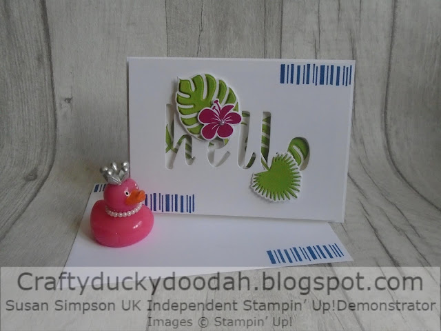 Craftyduckydoodah, Tropical Chic, Hand Lettered Prose, Eclipse Card, Stampin' Up! UK Independent  Demonstrator Susan Simpson, Supplies available 24/7 from my online store, Stamp 'N' Hop August 2019,
