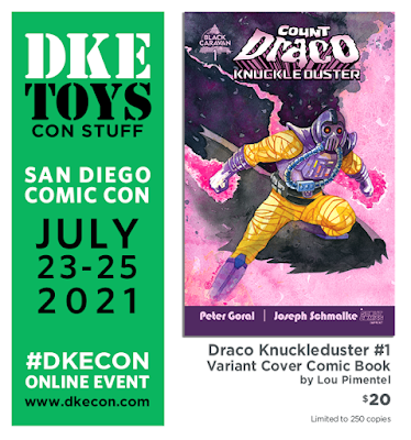 San Diego Comic-Con 2021 Exclusive Draco Knuckleduster #1 Variant Cover Comic Book by Lou Pimentel x Killer Bootlegs x DKE Toys