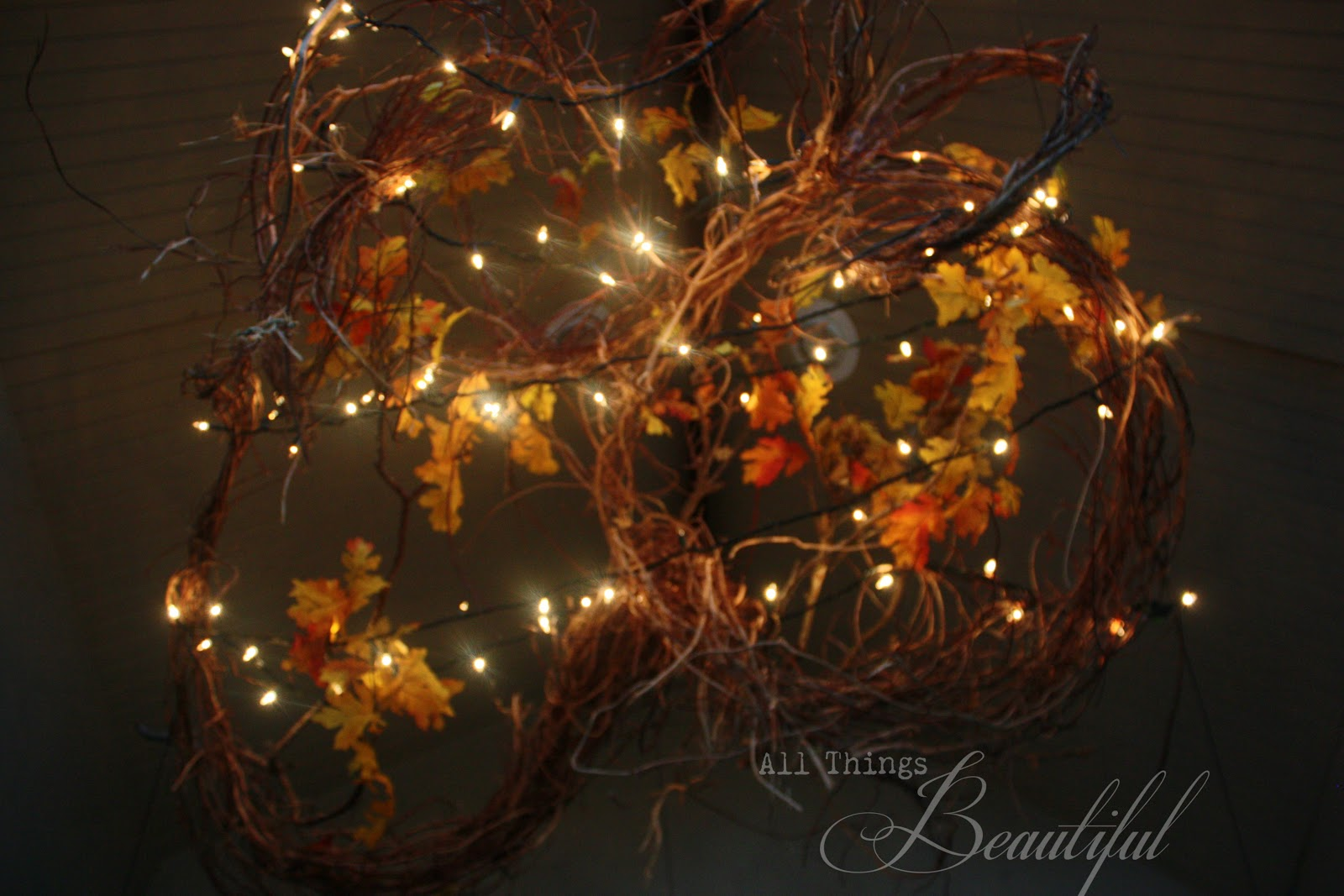 All Things Beautiful Fall Porch Lighting