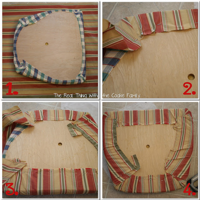 How To Recover A Chair Without Sewing! - The Frugal Girls