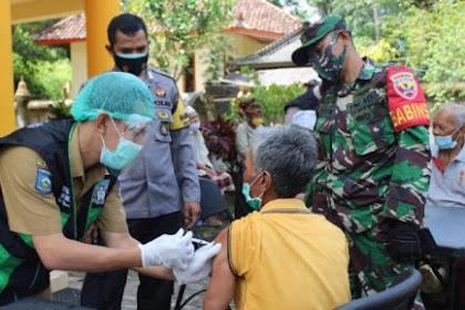 Sukseskan Kampung Sehat Jilid Dua,Polres Bersama Batalyon Vaksinasi Gelar Vaksinasi Mobile