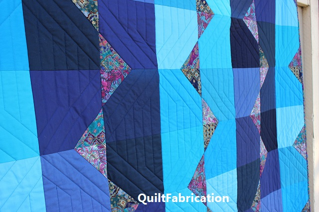 Summer Ocean quilting across the rows