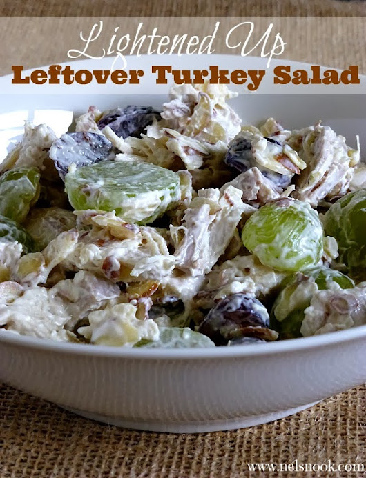 Lightened Up Leftover Turkey Salad