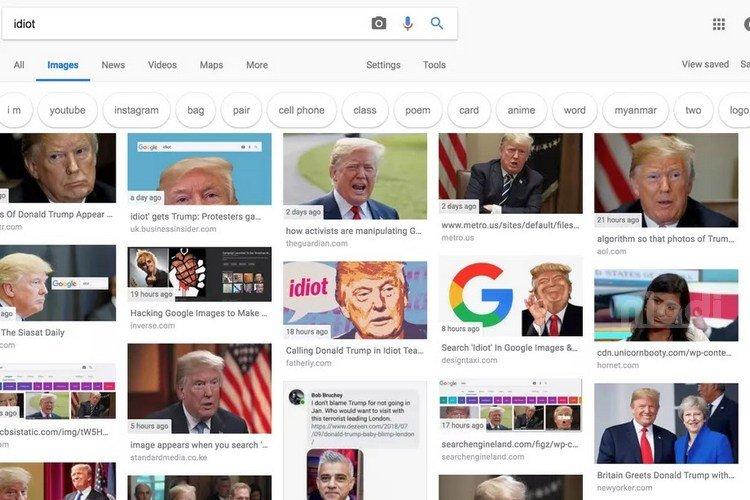 Ketik Kata 'Idiot' di Google yang muncul foto-fotonya Presiden Amerika Donald Trump