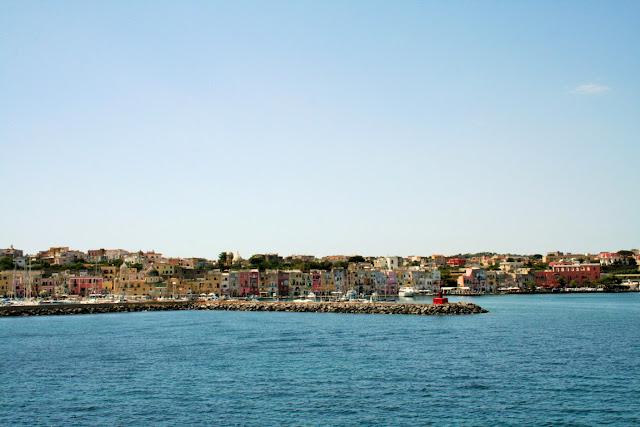 mare, acqua, isola Ischia, case, porto, cielo