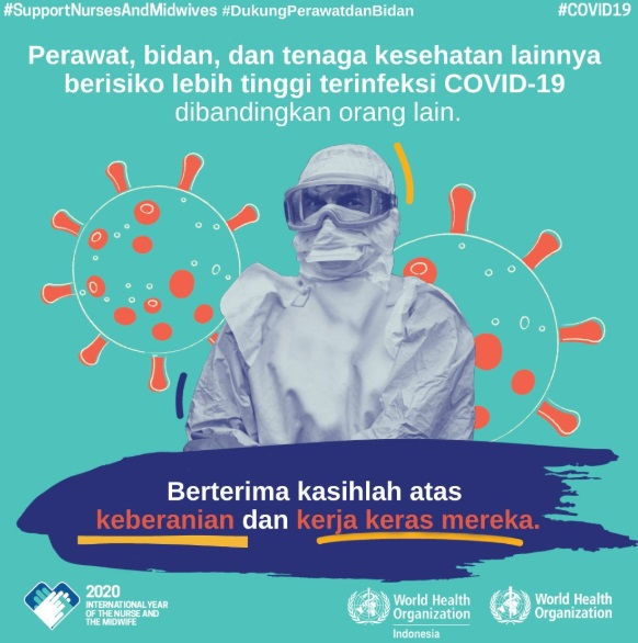 Poster Tenaga Kesehatan Melawan COVID19