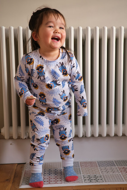 Poppy Jazz Elm Tshirt MBJM Lightning Leggings PJ Set Racoon