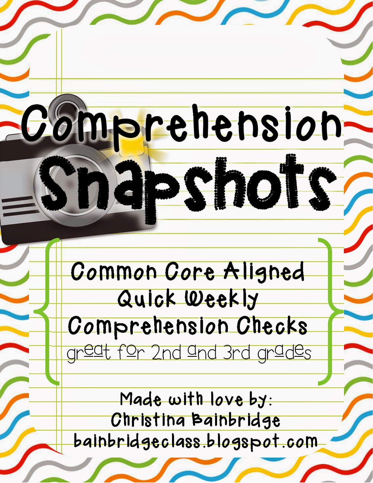 Bunting Books And Bright Ideas Reading Comprehension Snapshots Get Your Win On