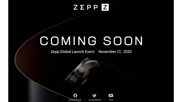 Amazfit's Zepp Z Launching a New Smartwatch on November 17