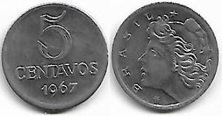 Moeda de 5 centavos, 1967
