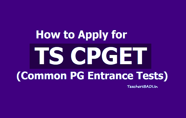 How to apply for TS CPGET
