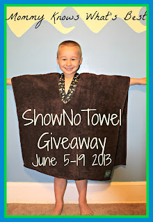 Enter to win your child a ShowNo Towel. Giveaway ends June 19th.