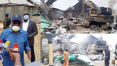 wike demolishes two hotels