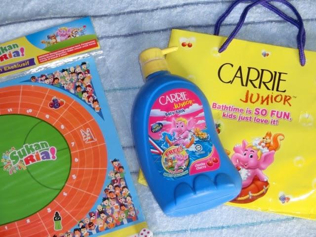 Produk mandian CARRIE JUNIOR; menggalakkan gaya hidup aktif  serta imaginasi yang kreatif untuk kanak-kanak!
