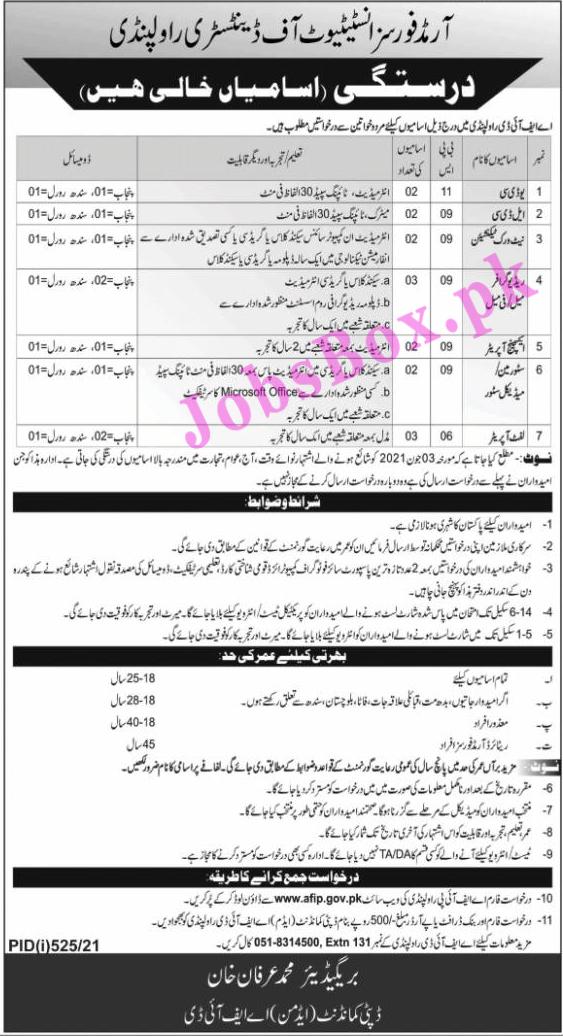 www.afip.gov.pk Jobs 2021 - Armed Forces Institute of Dentistry AFID Jobs 2021 in Pakistan