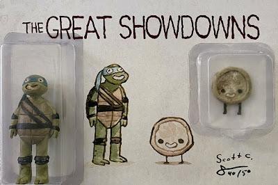 Gallery 1988 Exclusive The Great Showdowns Teenage Mutant Ninja Turtles Leonardo Resin Figure Set by Scott C