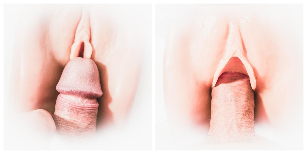 Penis into pocket pussy fleshlight