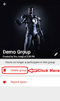 how to delete whatsapp group in android