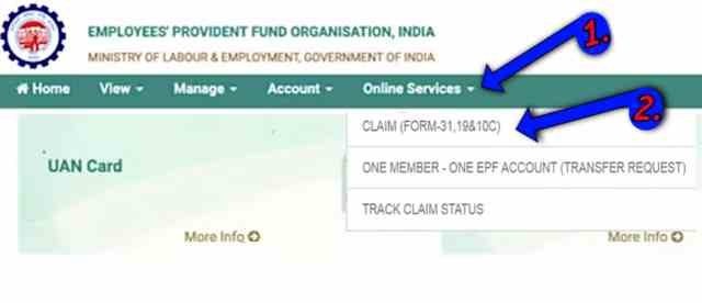 Claim form for pf withdrawal
