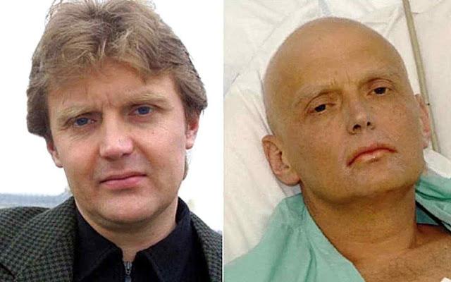 Alexandre Litvinenko, antes e depois do envenenamento em 2006. Em livro, denunciou que Putin reativou o laboratório dos venenos