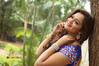 Actress Ashwini Stills in Blue Chudidar at Ameerpet Lo Release Press Meet  0244.JPG