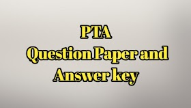 PTA Model Question Paper and Answer key