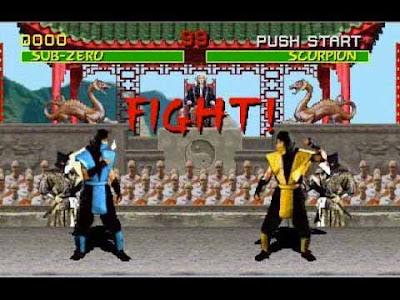 Mortal Kombat arcade: Sub Zero vs Scorpion