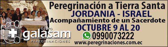 Peregrinación a Tierra Santa en octubre de 2019