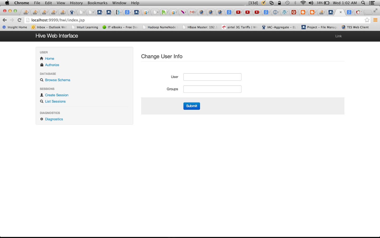 CloudFront: How to run Hive queries through Hive Web Interface