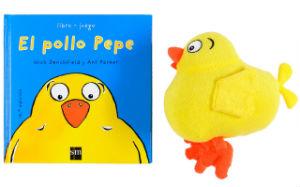 mejores cuentos para niños de 2 a 3 años de edad, pollo pepe con peluche