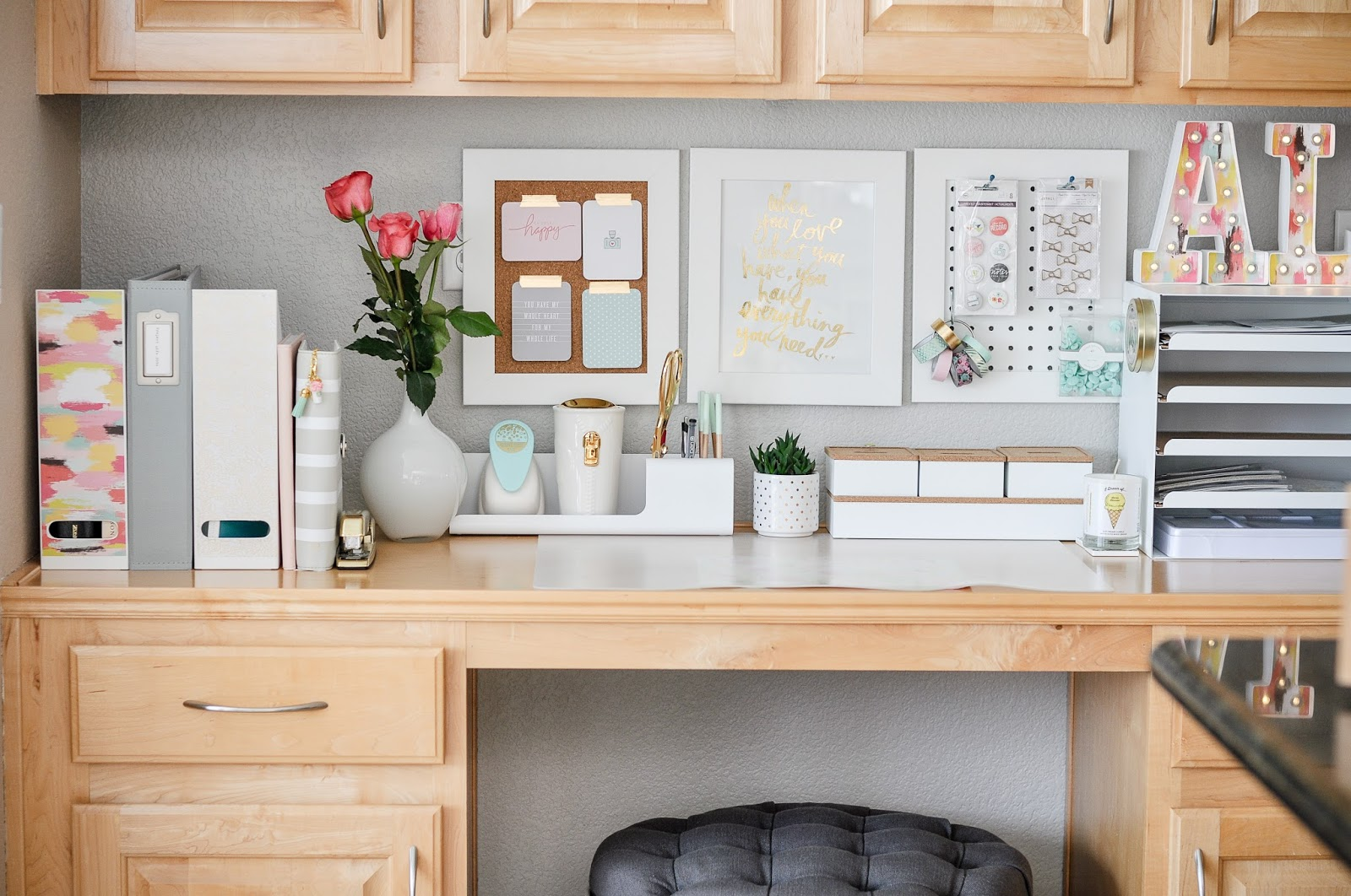 Project Life And Ikea How To Organize Simplify Your Desk Inexpensively