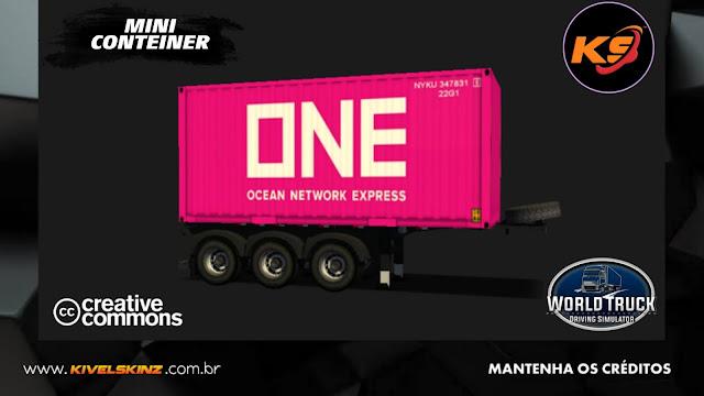 MINI CONTEINER - ONE NETWORK PINK